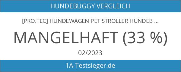 [pro.tec] Hundewagen Pet Stroller Hundebuggy Regenschutz zum Schieben Roadster inkl.