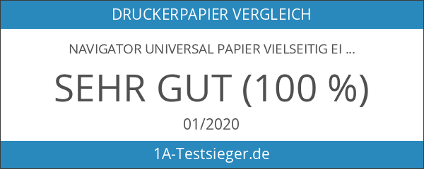 Navigator Universal Papier vielseitig einsetzbar eingeriest 80 g