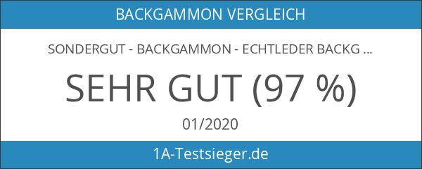 SONDERGUT - Backgammon - Echtleder Backgammon - Reise Backgammon -