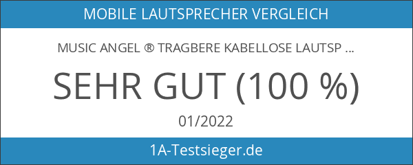 MUSIC ANGEL ® Tragbere Kabellose Lautsprecher mit Bluetooth 4.0 und