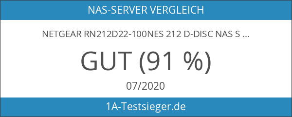 NETGEAR RN212D22-100NES 212 D-DISC NAS System 4TB
