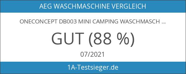 oneConcept DB003 Mini Camping Waschmaschine für Singles Weiß-Blau