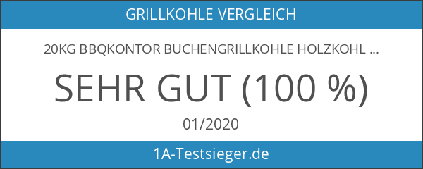 20kg BBQKontor Buchengrillkohle Holzkohle Buche Grillkohle Buchengrillholzkohle Premium