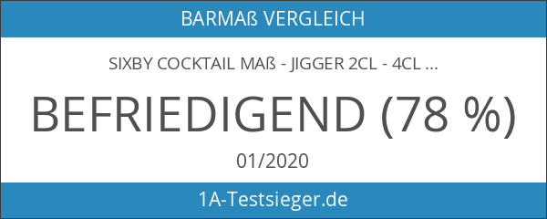 SIXBY Cocktail Maß - Jigger 2cl - 4cl