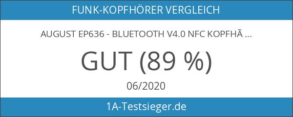 August EP636 - Bluetooth v4.0 NFC Kopfhörer - mit Freisprechfunktion