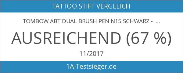 Tombow ABT Dual Brush Pen N15 SCHWARZ - BLACK -