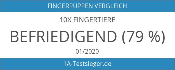 10x Fingertiere