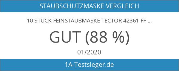 10 Stück Feinstaubmaske TECTOR 4236 FFP3 mit Ventil Atemschutzmaske EN149:2001