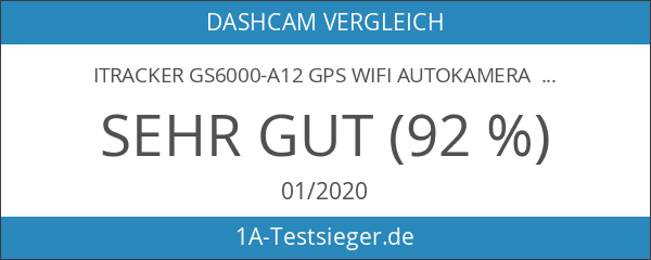 iTracker GS6000-A12 GPS WiFi Autokamera Dashcam 2K 1440p SuperHD 1296p