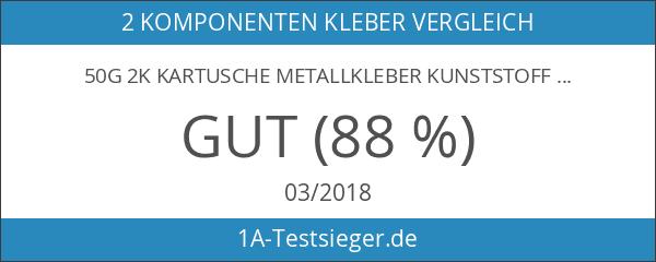 50g 2K Kartusche Metallkleber Kunststoffkleber Industriekleber Karosseriekleber schwarz