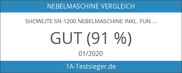 Showlite SN-1200 Nebelmaschine inkl. Funk Fernbedienung