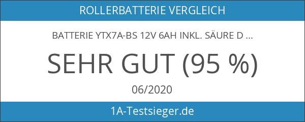 Batterie YTX7A-BS 12V 6AH inkl. Säure DIN: 50615LF für Adly