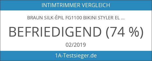Braun Silk-épil FG1100 Bikini Styler elektrischer Intimrasierer weiß