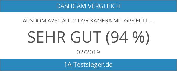 AUSDOM A261 Auto DVR Kamera mit GPS Full HD 1080P