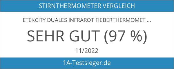 Etekcity Duales Infrarot Fieberthermometer Ohrthermometer Stirnthermometer für Babys Kinder Erwachsenen