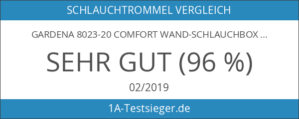 Gardena 8023-20 Comfort Wand-Schlauchbox 25 roll-up automatic