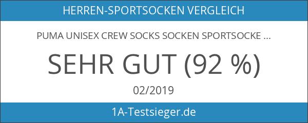 PUMA Unisex Crew Socks Socken Sportsocken MIT FROTTEESOHLE 6er Pack