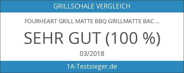 fourHeart Grill Matte BBQ Grillmatte Backen Heavy Duty 100% Non-Stick
