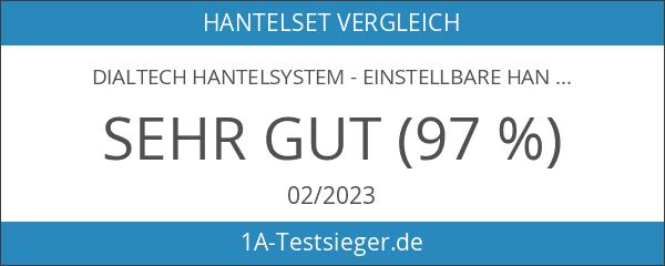 DialTech Hantelsystem - Einstellbare Hantel von 5 bis 32