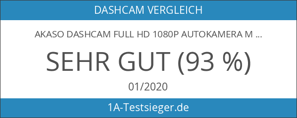 AKASO Dashcam Full HD 1080P Autokamera mit 3 Zoll LCD