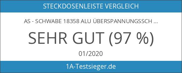 as - Schwabe 18358 Alu Überspannungsschutz-Steckdosenleiste