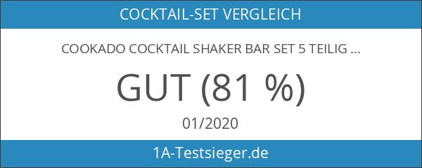 Cookado Cocktail Shaker Bar Set 5 teilig Edelstahl