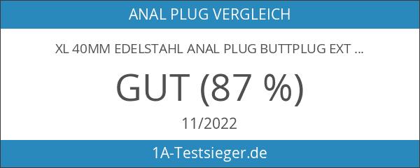 XL 40mm Edelstahl Anal Plug Buttplug extra schwer 357g mit
