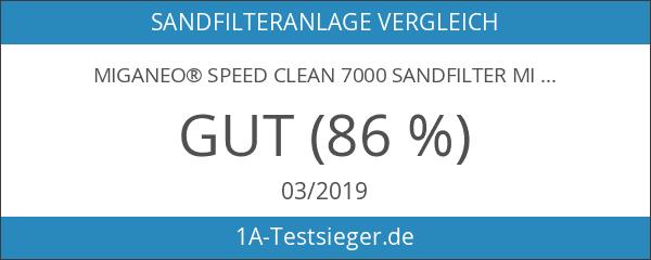 Miganeo® Speed Clean 7000 Sandfilter mit Zeitschaltuhr für Pool bis