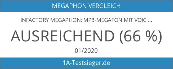 infactory Megaphon: MP3-Megafon mit Voice-Recording