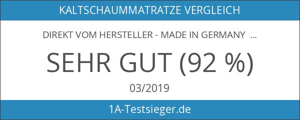 DIREKT VOM HERSTELLER - MADE IN GERMANY 7-Zonen AquaHR Kaltschaummatratze