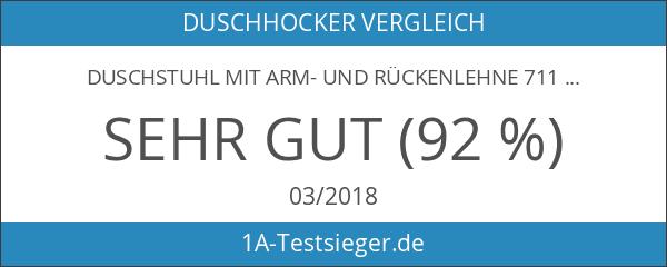 Duschstuhl mit Arm- und Rückenlehne 7116289 - Höhenverstellbar - 1