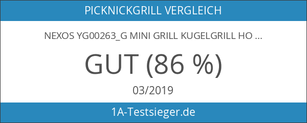 Nexos YG00263_G Mini Grill Kugelgrill Holzkohlegrill für Garten Terrasse Camping
