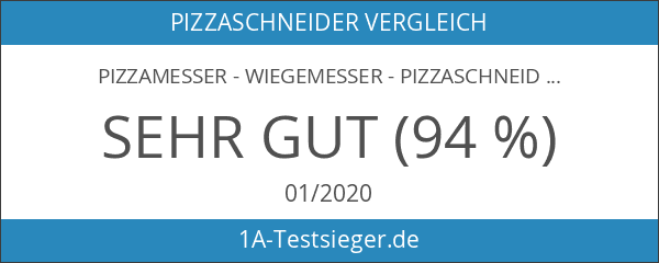 Pizzamesser - Wiegemesser - Pizzaschneider - 35cm - 10 Jahre