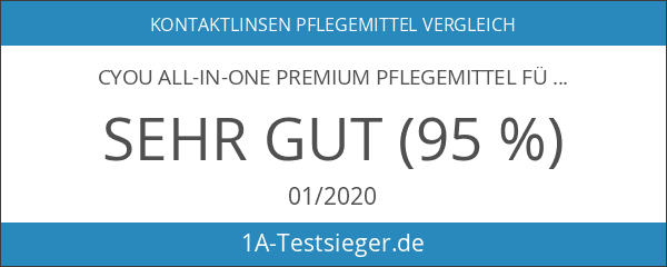 CYOU All-In-One Premium Pflegemittel für weiche Kontaktlinsen