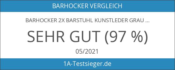 Barhocker 2x Barstuhl Kunstleder GRAU