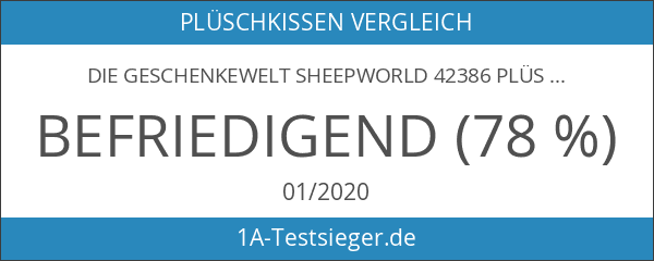 Die Geschenkewelt Sheepworld 42386 Plüsch-Kissen