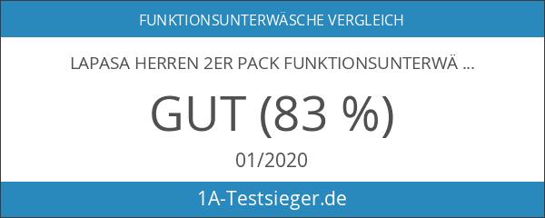 LAPASA Herren 2er Pack Funktionsunterwäsche - SCHNELLTROCKNEND & GERUCHS-RESISTENZ -