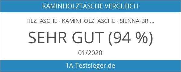 Filztasche - Kaminholztasche - sienna-braun 50 x 25 cm