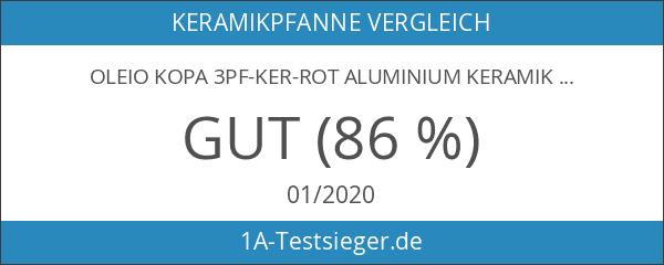 Oleio Kopa 3PF-KER-ROT Aluminium Keramikpfannen Set - Rot