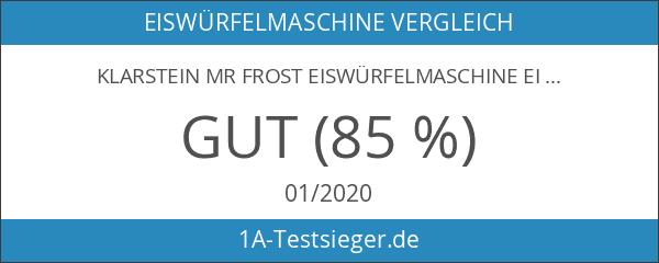 Klarstein Mr Frost Eiswürfelmaschine Eiswürfel-Bereiter Ice-Maker silber