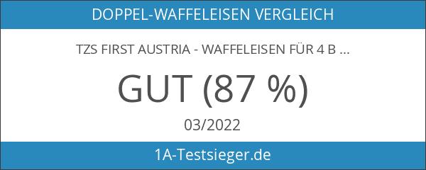 TZS First Austria - Waffeleisen für 4 belgische Waffeln