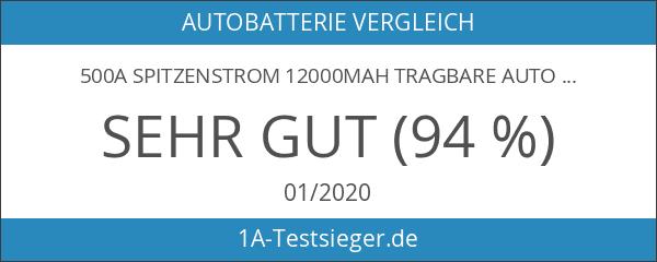 500A Spitzenstrom 12000mAh Tragbare Auto Starthilfe Autobatterie Anlasser