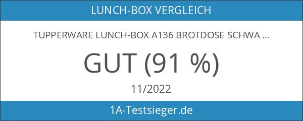 TUPPERWARE Lunch-Box A136 Brotdose Schwarz Lunchbox Dose Brotbox Sandwich