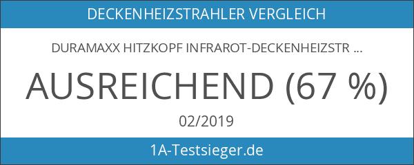 DURAMAXX Hitzkopf Infrarot-Deckenheizstrahler Quarz Heizstrahler für die Decke silber