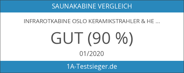 Infrarotkabine Oslo Keramikstrahler & Hemlockholz