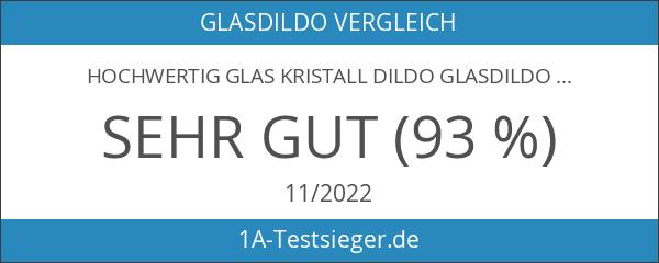 Hochwertig Glas Kristall Dildo Glassdildo G-punkt Penis Anal Butt Plug