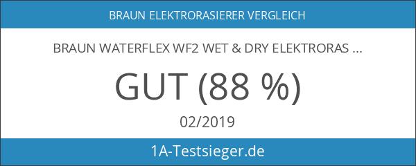 Braun WaterFlex WF2 Wet & Dry Elektrorasierer mit Gillette Series