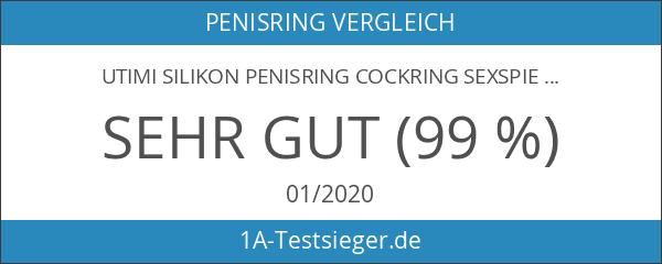 Utimi Silikon Penisring Cockring Sexspielzeug für härtere Erektion Dual Ringe