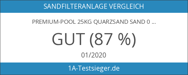 Premium-Pool 25kg Quarzsand Sand 0