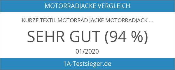 Kurze Textil Motorrad Jacke Motorradjacke Schwarz Rot Gr. XL